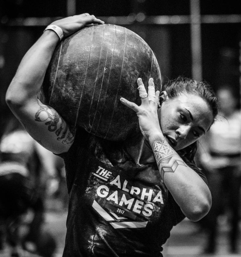 CrossFit Athletin Vanessa Wagner beim Training