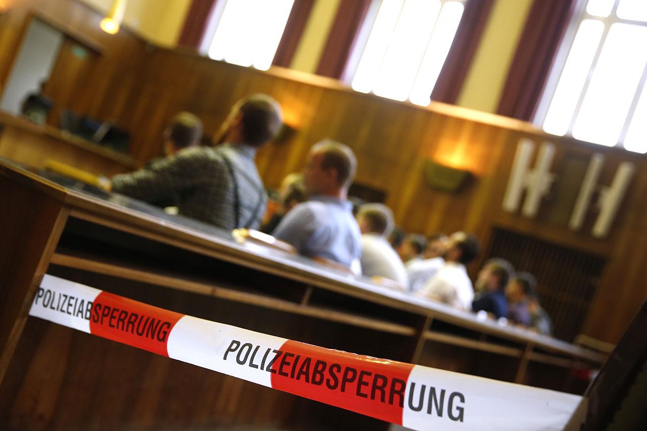Angeklagte im Grazer Gerichtssaal