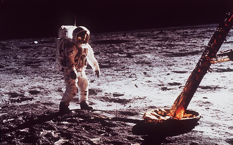 1969: Nasa-Astronaut auf dem Mond