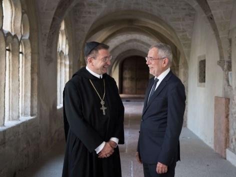 Salzburg: Bundespräsident besuchte Erzabtei St. Peter