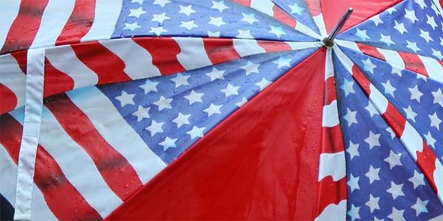 Regenschirm mit Motiv: US-Flagge