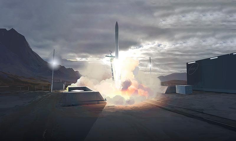 Künstlerische Darstellung: Raketenstart im Norden Schottlands