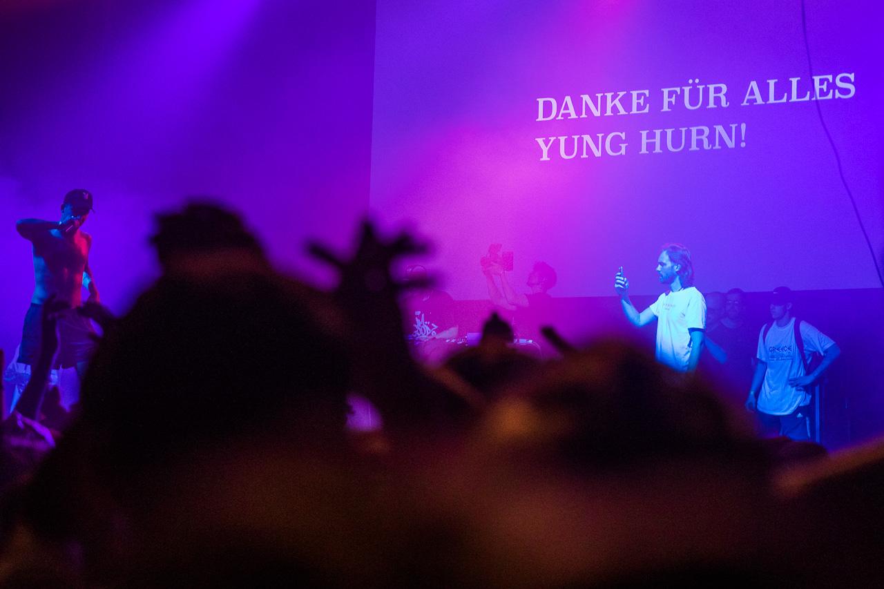 Yung Hurn Auf der Bühne am FM4 Frequency