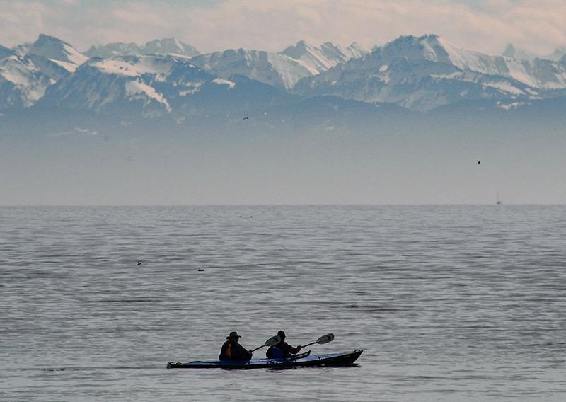 Kanufahrer am Bodensee