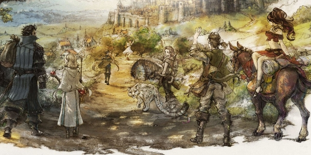 Artwork des Spiels Octopath Traveler