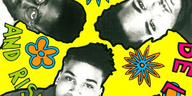 Albumcover mit den drei Mitgliedern von De la Soul aus dem Jahr 1989