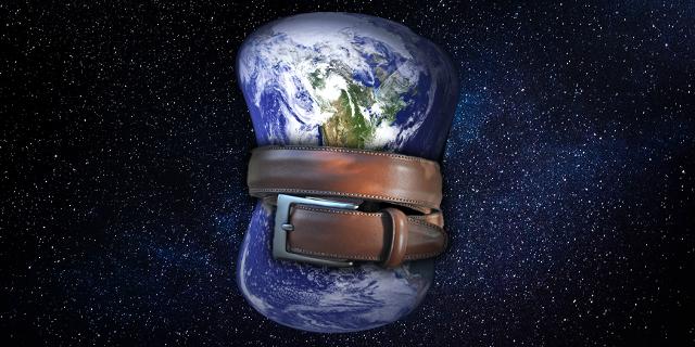 Erde mit Gürtel