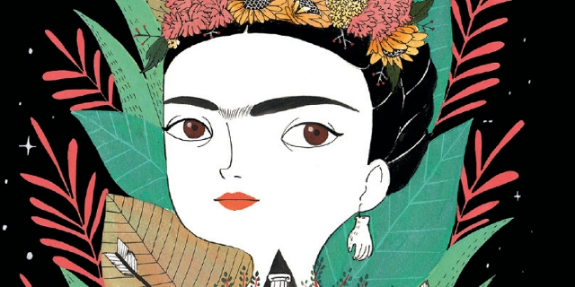 frida kahlo illustration portrait buchcover