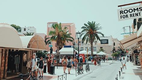 Griechenland, Insel Kreta, Straße in der Stadt Chania