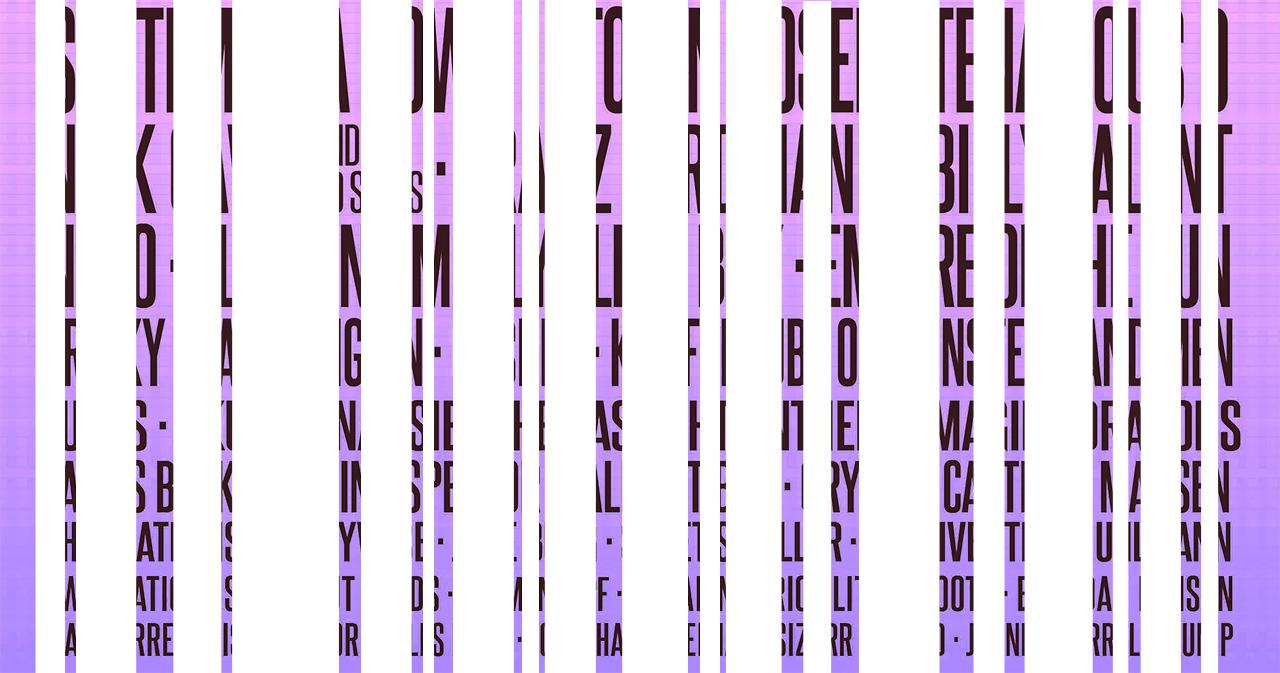 Line Up Plakat mit Lücken