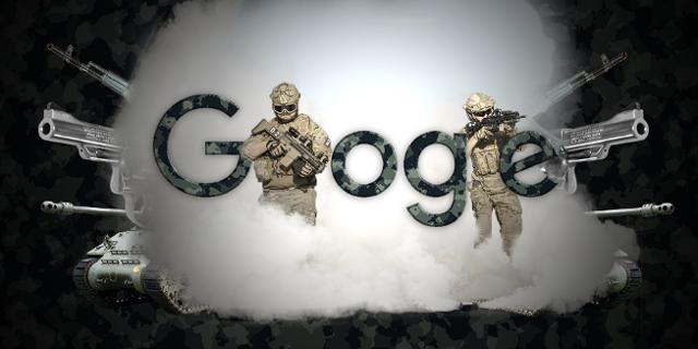 Google Logo Militär