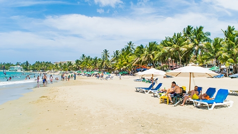 Strand in der Dominikanische Republik
