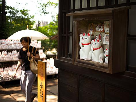 """""""Winkekatzen"""" im Gotokuji-Tempel in Tokio"""