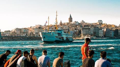 Türkei, Blick in den Hafen von Istanbul