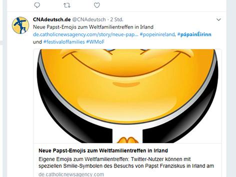 Screenshot Twitter/Account Catholic News Agency, Papst-Emoji
