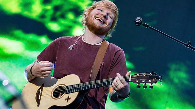 Ed Sheeran bei seinem Konzert in München