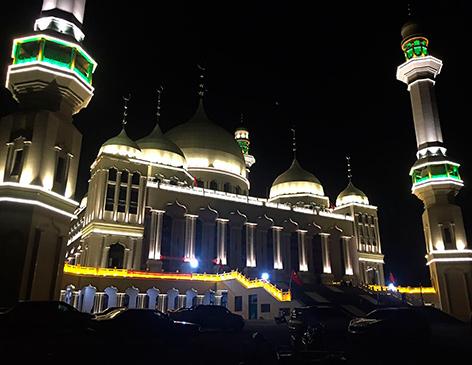 Die Große Moschee von Weizhou im Norden Chinas, deren Abriss durch Proteste verschoben wurde.