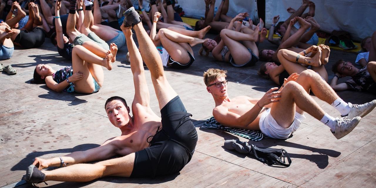 Yoga Workshop am Frequency 2018