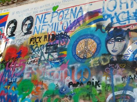 John Lennon Wall Prag Tschechien