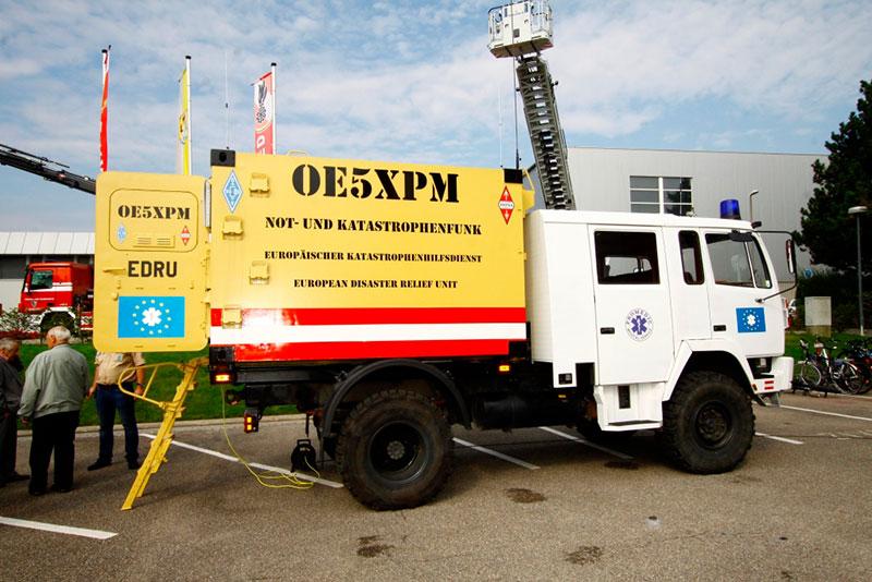 Truck des Not- und Katastrophenfunk