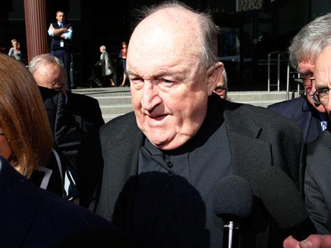 Der wegen Missbrauchsvertuschung verurteilte australische Erzbischof Philip Wilson