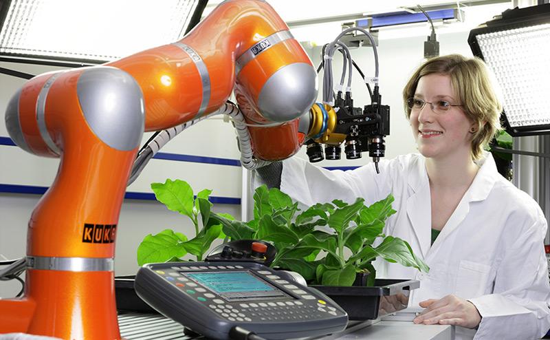 Roboter im Pflanzenlabor