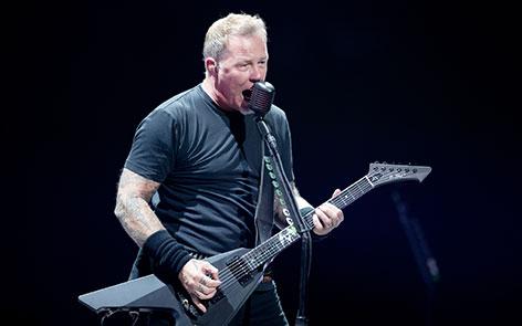 Metallica-Frontmann auf der Bühne