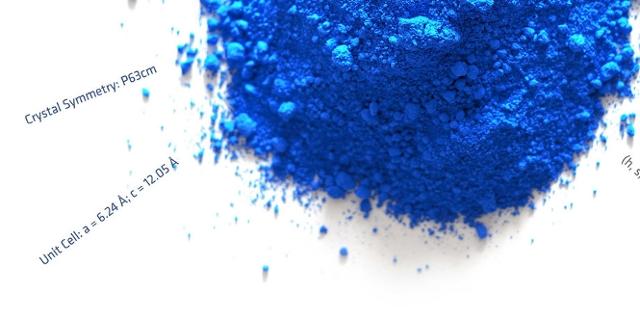 Logo des Ars Electronica Festival 2018: blaues Pulver auf weißem Hintergrund