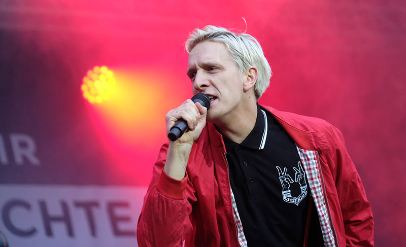 Kraftklub Sänger Felix Brummer