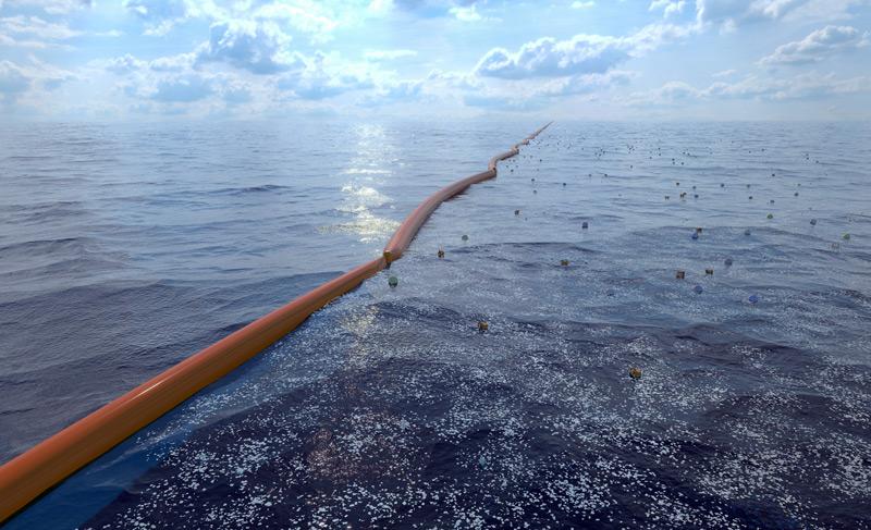 Computerbild zur Meeresreinigung
