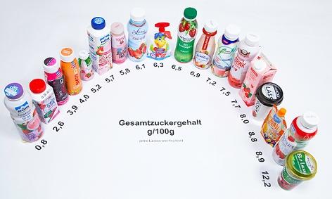 Diverse Trinkjoghurts