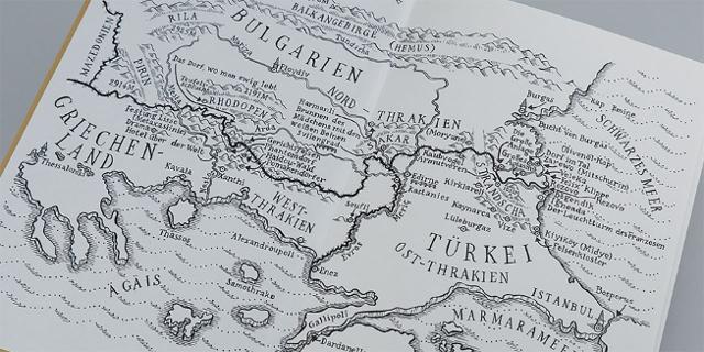 Landkarte Grenzraum Bulgarien, Türkei und Griechenland