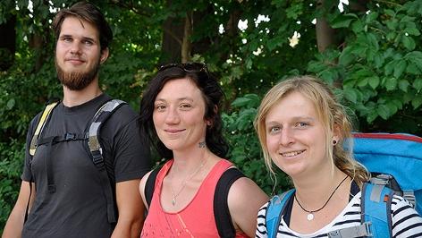 Heimo Neumaier, Katrin Goriupp und Alina Schreib