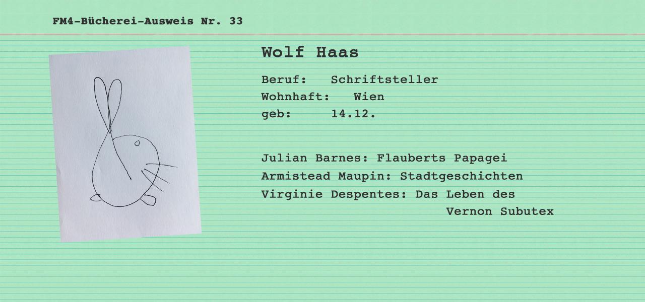 Büchereikartei Wolf Haas