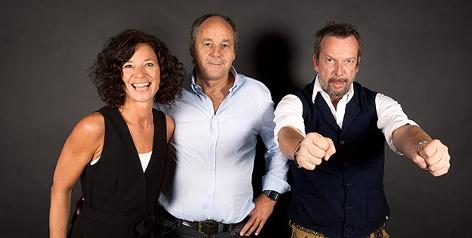 DTM-Chef Gerhard Berger mit Sandra König und Robert Kratky