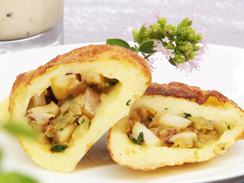 Rezept Vorarlberg 17.9. Langenegg Steinpilz gefüllte Kartoffelküchle