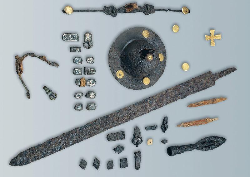 Einige der entdeckten Grabbeigaben