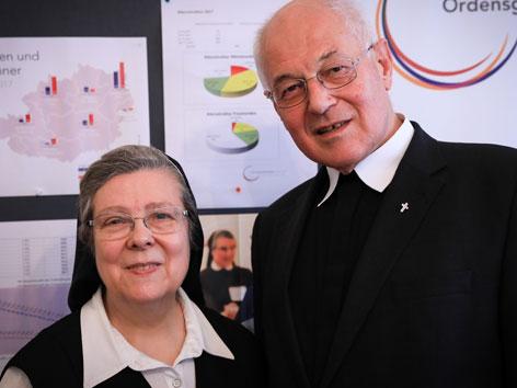 Frauenorden-Präsidentin Sr. Beatrix Mayrhofer und Männerorden-Vorsitzender Abt. em. Christian Haidinger