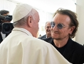 Papst Franziskus und Bono