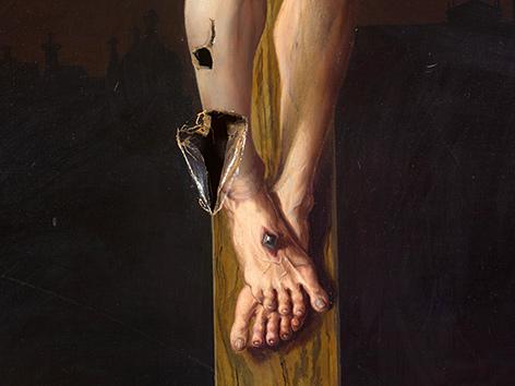 Unbekannt, Kreuzigungsbild aus dem Erzbischöflichen Palais (Detail), Ende 19. Jh.