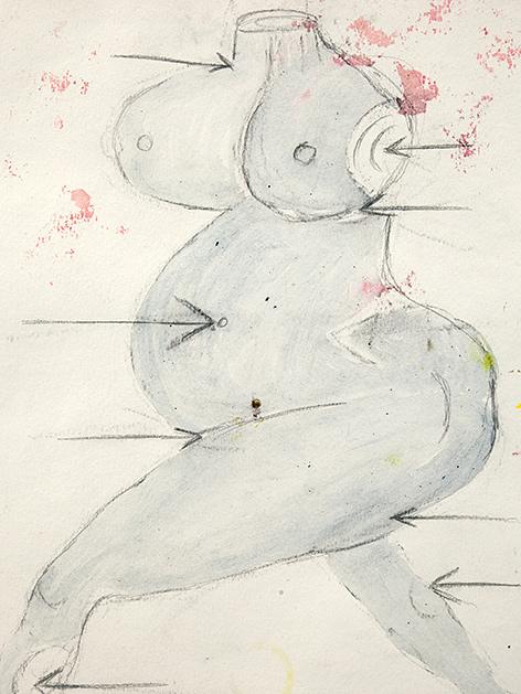 """Louise Bourgeois: """"St. Sebastienne"""" (1992, Ausschnitt), Galerie Karsten Greve St. Moritz Paris Köln"""