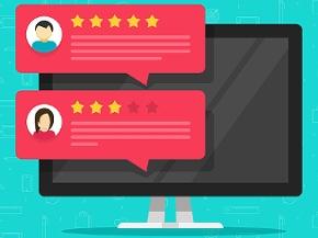 Illustration einer Onlinebewertung