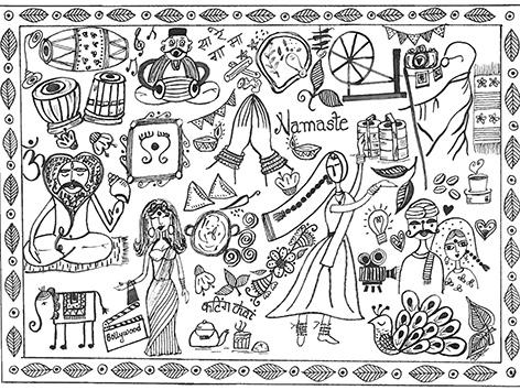 Das Logo des Seva-India-Festivals