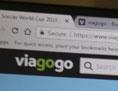 Bildschirm mit Viagogo Webseite