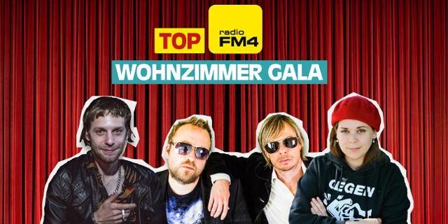 Duscher und Gratzer, Voodoo Jürgens und Stefanie Sargnagl in einer Collage