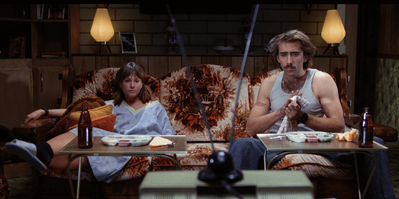 "nicolas cage und holly hunter in ""raising arizona"""