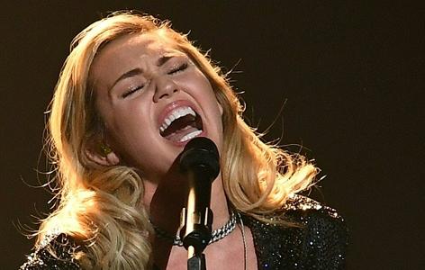 Die US-amerikanische Popsängerin Miley Cyrus