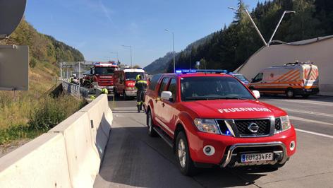 Pyhrn Autobahn gesperrt: Großbrand