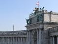 """Der Balkon oder Altan am Heldenplatz an der Hofburg, auch bekannt als """"Führerbalkon"""