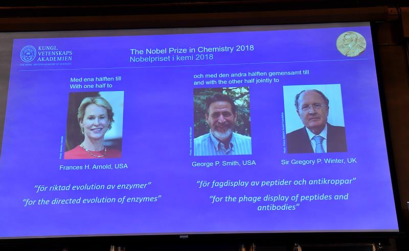 Die drei Nobelpreisträger/innen im Fach Chemie